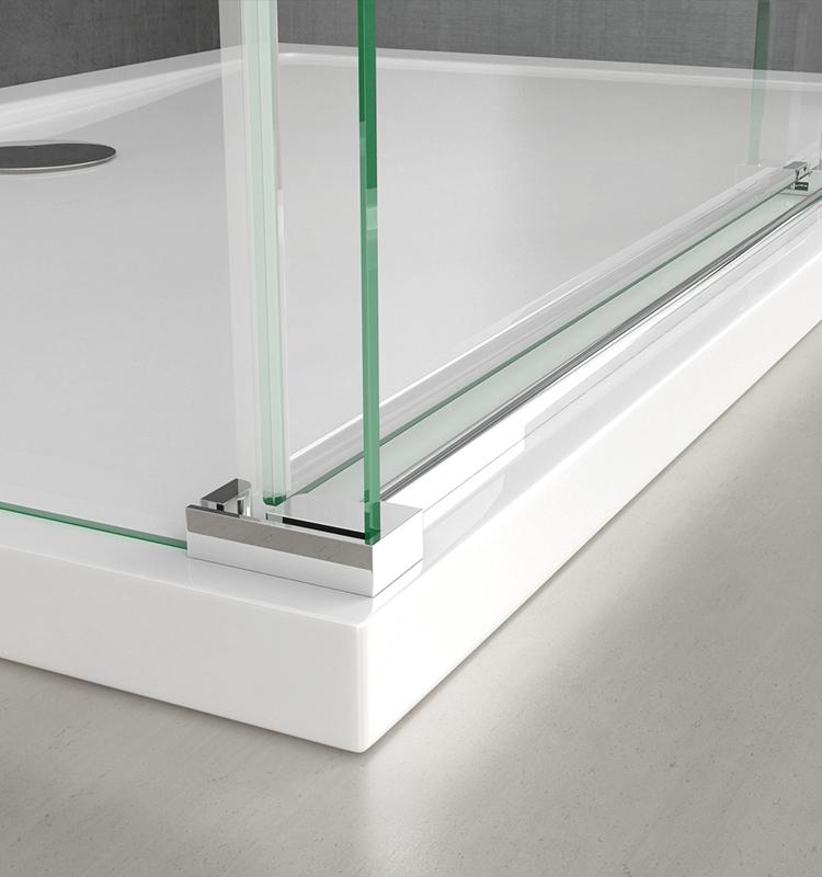 Cabine de douche transparent en angle 80x90cm paroi de douche rectangulaire Sogood Ravenna4K verre de s/écurit/é 6mm Nano