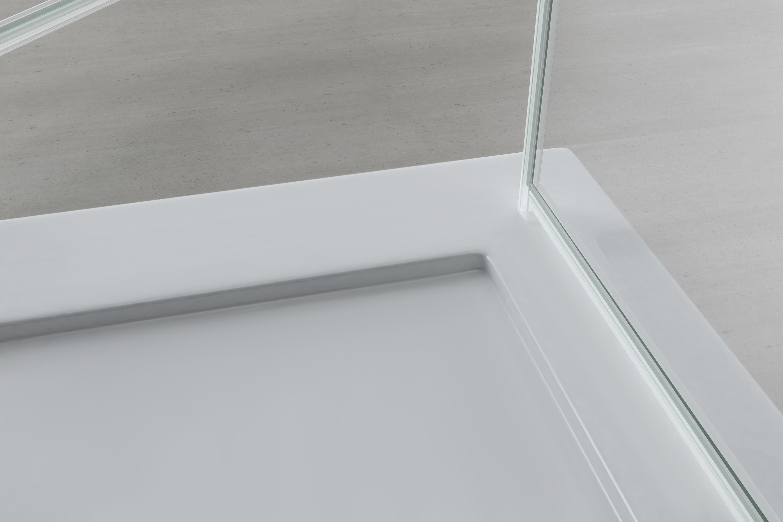 Sogood paroi pare-douche porte de douche pliante cabine de douche rabattable verre tremp/é transparent Ravenna26 90x90x190